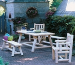 Classic Farmer's Table and Bench Set Only