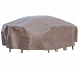 """Duck Covers Elite 127""""L Rectangle Patio Table and Chairs Cover with Inflatable Airbag"""