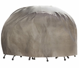 "Duck Covers Elite 90"" Dia Round Patio Table and Chairs Cover including Inflatable Airbag"