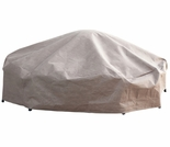 """Duck Covers Elite 92"""" Dia Patio Chat Table and Chairs Cover with Inflatable Airbag"""