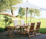 "Family Teak 60"" - 78"" Oval Expansion Table & 4 Estate Chairs"