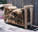 Log Style Firewood Rack - 3 Sizes - Closeout Pricing!