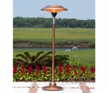 Floor Standing Round Copper Finish Halogen Patio Heater