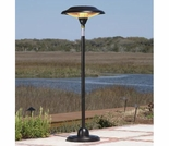 Floor Standing Round Hammer Tone Bronze Steel Halogen Patio Heater