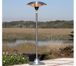 Floor Standing Round Stainless Steel Halogen Patio Heater