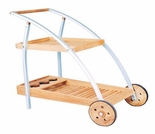 "Hi Teak 22"" Aluminum Tea Trolley - Currently Out of Stock"
