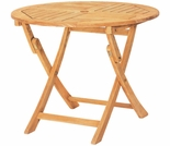"Hi Teak 31.5"" Bistro Foldng Table"