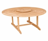 "Hi Teak 59"" Royal Round Table w/ Lazy Susan"