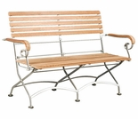 "Hi Teak Vienna 44"" Bistro Two-Seater Bench"