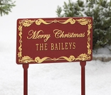 Holly Rectangle Personalized Plaque