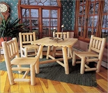 Log Dining Set / 5pc.