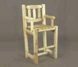 Log Stye Bar Chair
