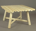 "Log Style Rustic 42"" Dining Table"