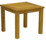 "Three Birds Newport Teak Tall 20"" Square Side Table"