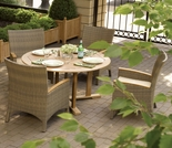"Oxford Garden 5 Pc Torbay 48"" Shorea/Wicker Dining Set"