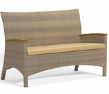 Oxford Garden Torbay Wicker Loveseat  - Closeout Pricing!