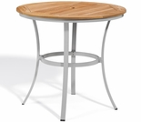 "Oxford Garden Travira 36"" Round Caf� Teak Top Bar Table"