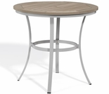 "Oxford Garden Travira 36"" Round Caf� Tekwood Top Bar Table"