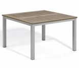"Oxford Garden Travira 39"" Square Tekwood Top Dining Table"