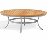 "Oxford Garden Travira 47"" Round Teak Top Chat Table"