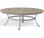 "Oxford Garden Travira 47"" Round Tekwood Top Chat Table - ""Spring Event"" Reduced Pricing"
