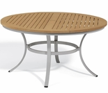 "Oxford Garden Travira 48"" Round Tekwood Top Dining Table"