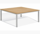 "Oxford Garden Travira 60"" Square Teak Top Dining Table"