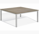 "Oxford Garden Travira 60"" Square Tekwood Top Dining Table - ""Spring Event"" Reduced Pricing"