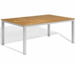 "Oxford Garden Travira 63"" Rectangular Teak Top Dining Table"