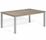 "Oxford Garden Travira 63"" Rectangular Tekwood Top Dining Table"
