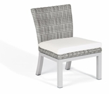 """Oxford Garden Travira Argento Resin Wicker Armless Sidechair - Set of 2 - """"Spring Event"""" Reduced Pricing"""