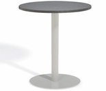 """Oxford Garden Travira Round Alstone Graphite Top Bar Table - 24"""" or 36"""" Dia - Additional Summer Sale Discount til July 12!"""