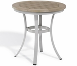 "Oxford Garden Travira Round Cafe Tekwood Round Top Bistro Table - 24"" or 36"" Dia - ""Spring Event"" Reduced Pricing"