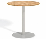 "Oxford Garden Travira Round Teak Top Bar Table - 24"", 32"" or 36"" Dia"