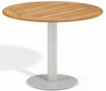 "Oxford Garden Travira Round Teak Top Bistro Table - 24"", 32"" or 36"" Dia"