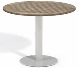 "Oxford Garden Travira Round Tekwood Top Bistro Table - 24"", 32"" or 36"" Dia - ""Spring Event"" Reduced Pricing"