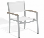 Oxford Garden Travira Sling Armchairs w/ Tekwood Armcaps (Set of 2) - Sling Color Options