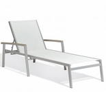 """Oxford Garden Travira Sling Chaise Lounge w/ Tekwood Armcaps (Set of 2) - Sling Color Options - """"Spring Event"""" Reduced Pricing"""