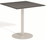 "Oxford Garden Travira Square Alstone Graphite Top Bar Table - 24"" Dia - Reduced Closeout Pricing"
