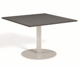 "Oxford Garden Travira Square Alstone Graphite Top Bistro Table - 24"" Dia - Reduced Closeout Pricing"