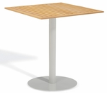 "Oxford Garden Travira Square Teak Top Bar Table - 24"", 32"" or 36"" Dia"