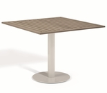 "Oxford Garden Travira Square Tekwood Top Bistro Table - 24"", 32"" or 36"" Dia - ""Spring Event"" Reduced Pricing"