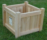 "Patio Deck Cube Planter - 18"" and 24"""