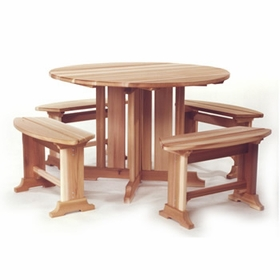 Pedestal Table Set