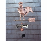 Polished Copper Rooster Weathervane