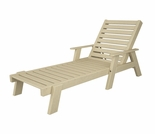 "POLYWOOD� Captain 77"" Chaise with Arms"