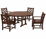 POLYWOOD� Chippendale 4 Seat Dining Set