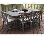 POLYWOOD® Chippendale 7 Piece Dining Set & Cushions
