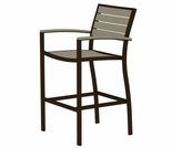 POLYWOOD� Poly/Aluminum Euro Bar Height Arm Chair