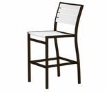 POLYWOOD� Poly/Aluminum Euro Bar Height Side Chair